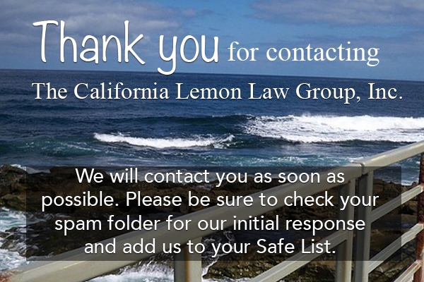contact California Lemon Law Group, expert lemon law attorney