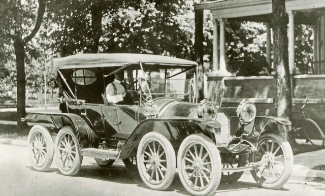 The 1911 Reeves Octo-Auto: It had a 40-horsepower engine, was over 20 feet long, sat 4, and retailed for $3200.00.
