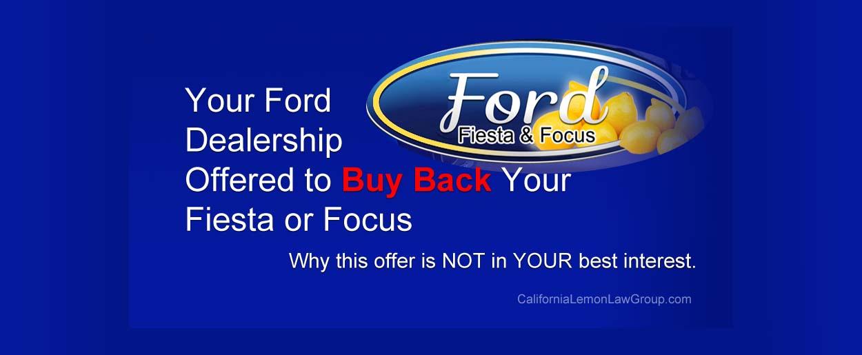 Ford Fiesta and Focus Dealer Buyback Offer