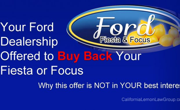 Ford Fiesta and Focus Dealer Buyback Offer