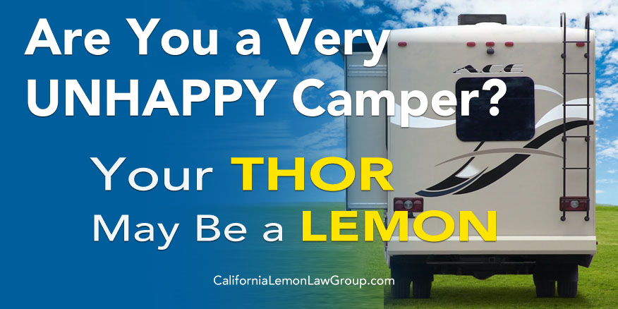 Thor motorhome slide out problem, lemon law, Thor Motor Coach