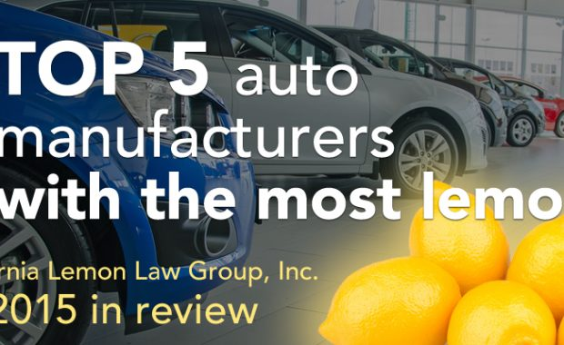 which autos most lemon law cases 2015