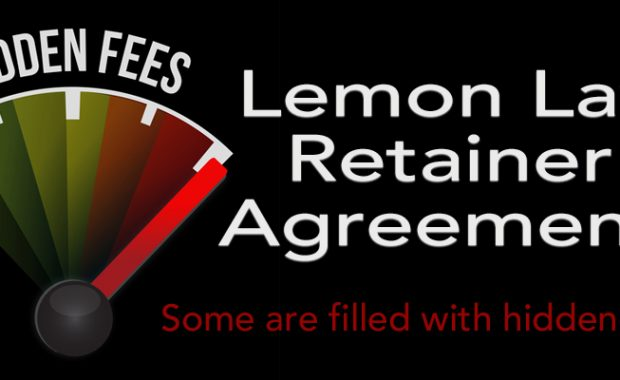 Lemon Law retainer agreement, hidden fees