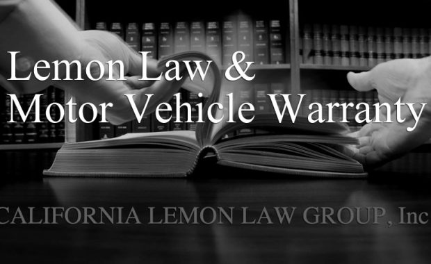 california lemon law, vehicle warranty, auto manufacture warranty