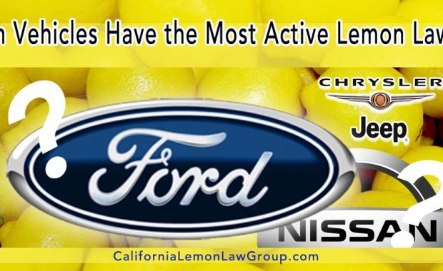 Lemon Law Alert: Ford, Nissan, Jeep/Chrysler
