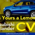 Is Your Mitsubishi Outlander A Lemon?
