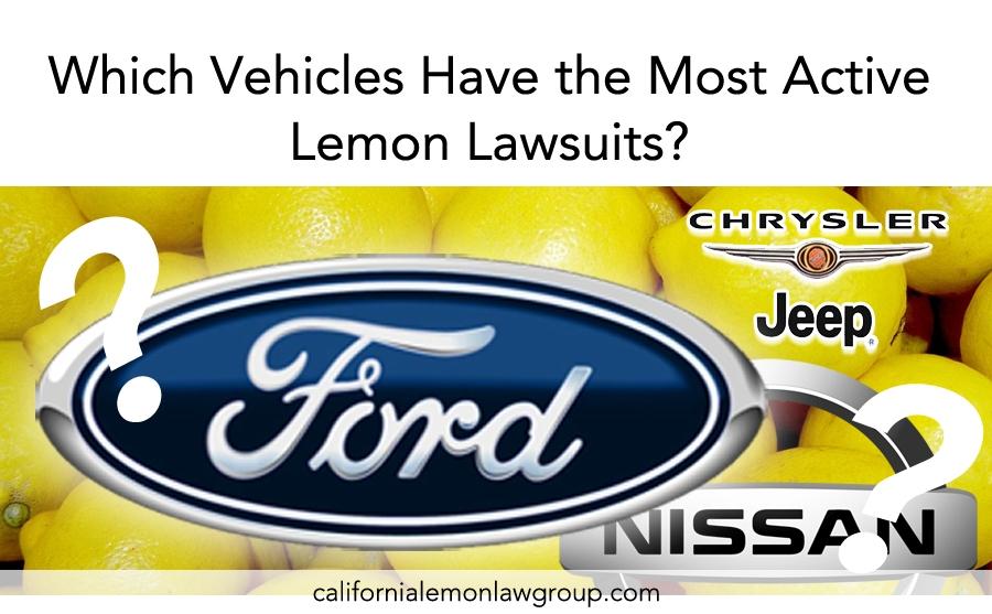 Lemon Law Alert: Ford, Nissan, Jeep/Chrysler