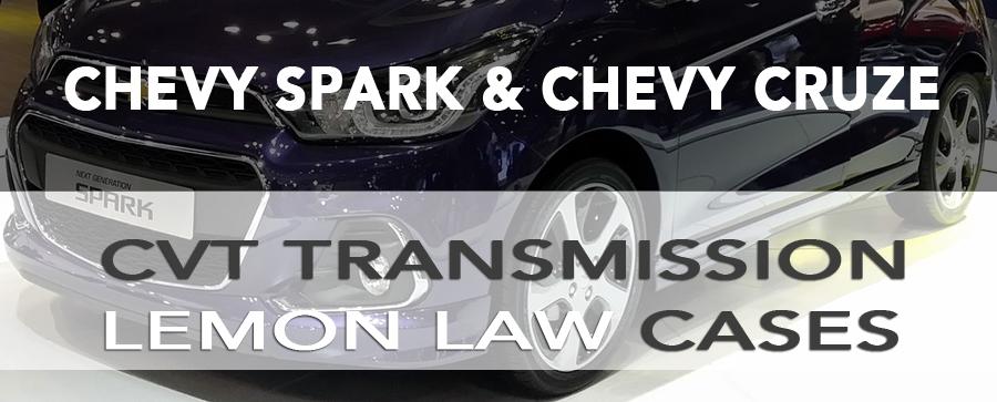 California Lemon Law, Chevy Spark, Chevy Cruze