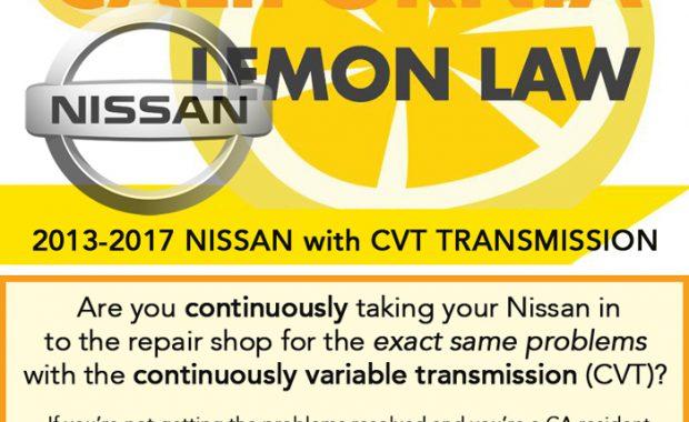California Lemon Law, Nissan CVT Transmission