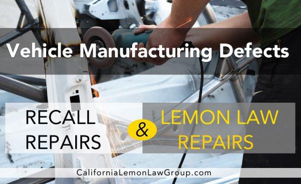 auto recall repairs vs lemon law auto repairs