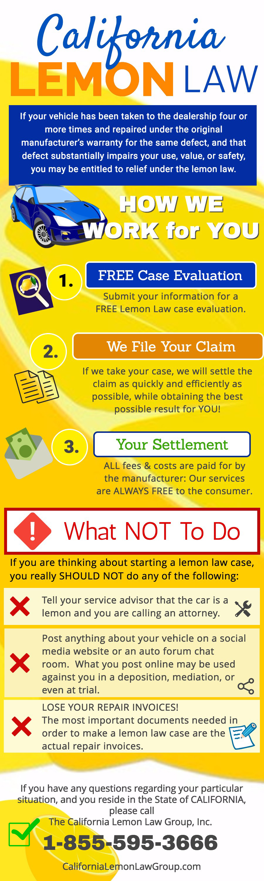 how the california lemon law group works for you. Black Bedroom Furniture Sets. Home Design Ideas