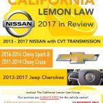 California Lemon Law – 2017 in Review