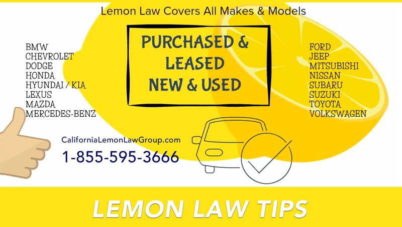 California Lemon Law Tips