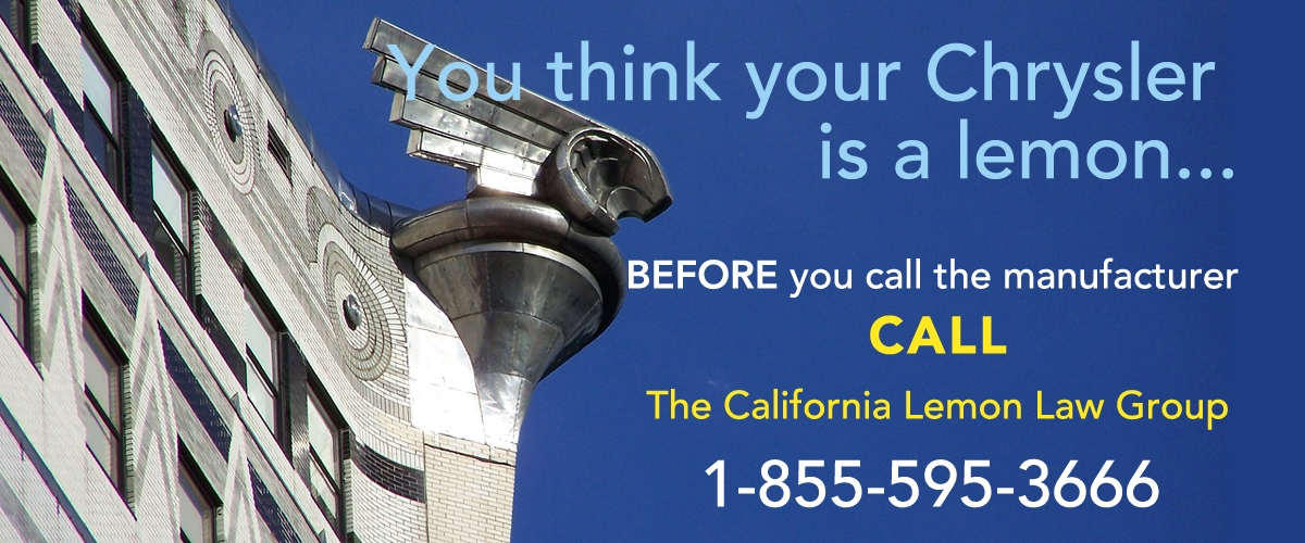 Fiat Chrysler Dodge lemon law experts, California lemon law