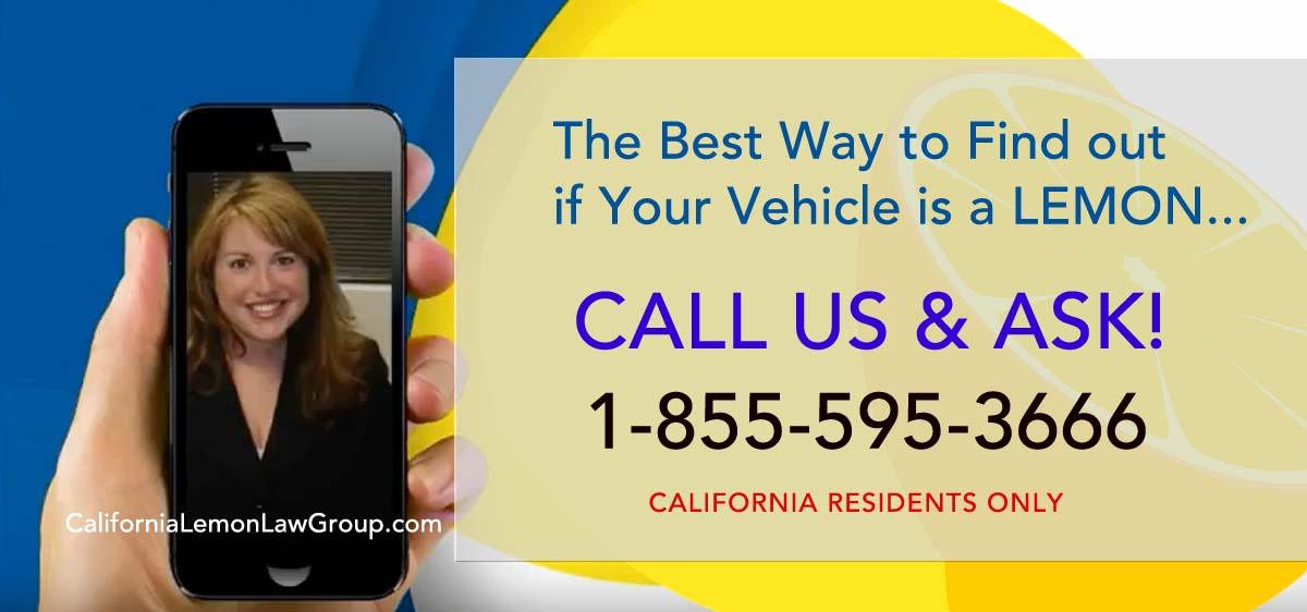Call California Lemon Law Group, California residents
