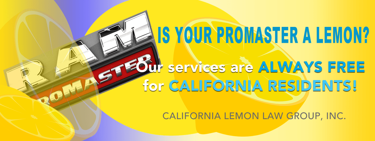 California Lemon Law Dodge Ram ProMaster City