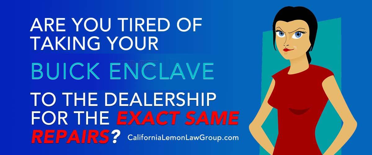 lemon lawsuits Buick Enclave, Acadia, California lemon law expert