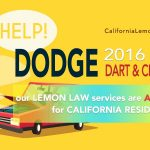 California Lemon Law, Dodge Dart, Challenger, 1500 EcoDiesel