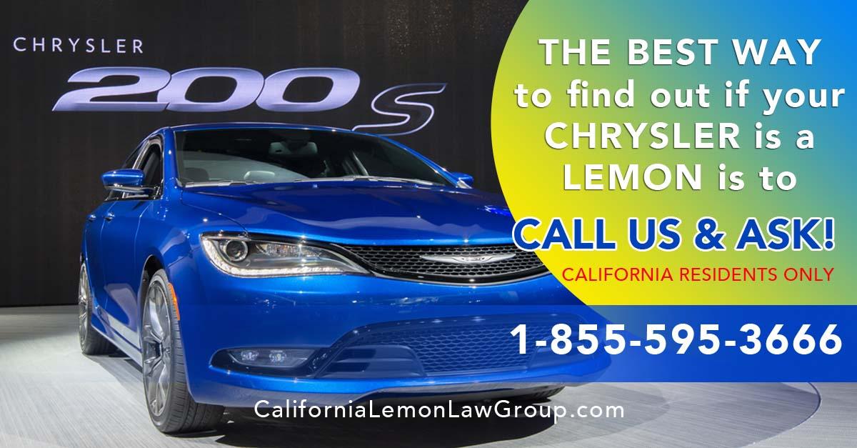 Chrysler 200 Lemon, California