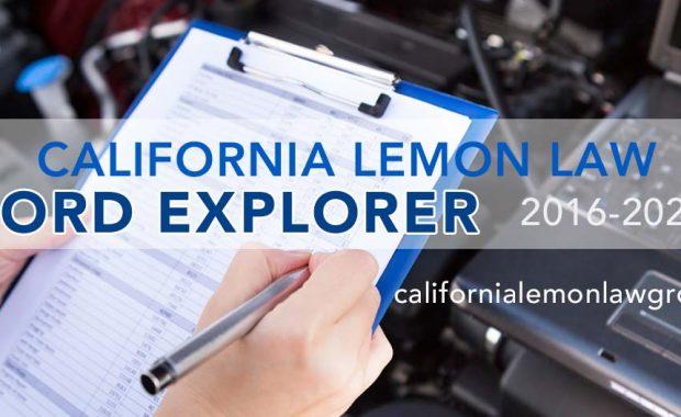 California Lemon Law, Ford Explorer